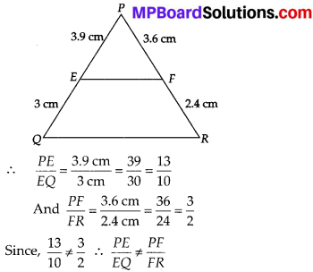 MP Board Class 10th Maths Solutions Chapter 6 Triangles Ex 6.2 3