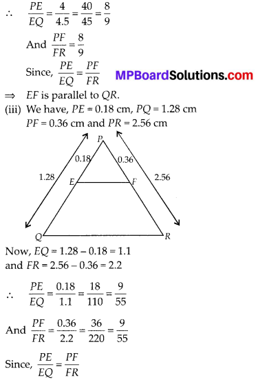 MP Board Class 10th Maths Solutions Chapter 6 Triangles Ex 6.2 5