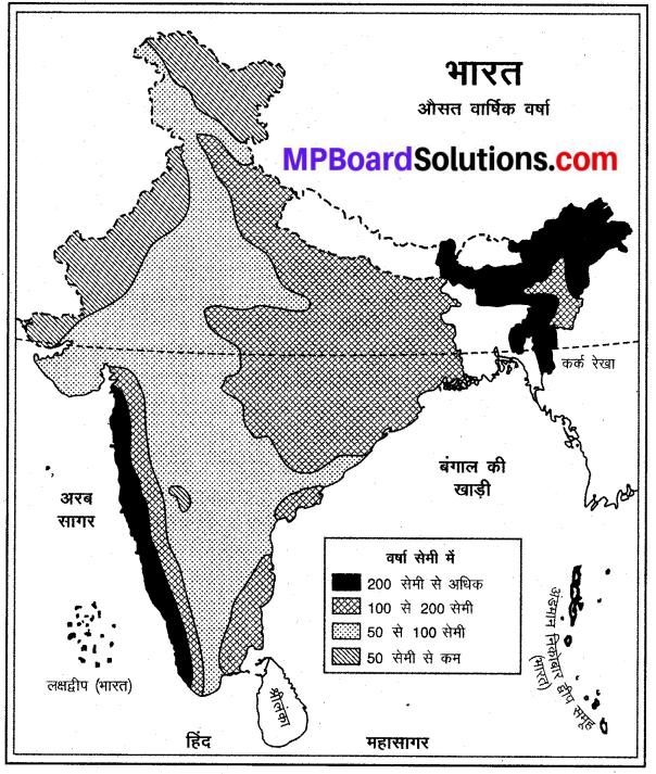 MP Board Class 9th Social Science Solutions Chapter 5 भारत जलवायु - 2
