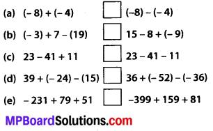 Mp Board Class 7th Maths Solution English Medium Integers Ex 1.1