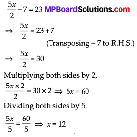 MP Board Class 7th Maths Solutions Chapter 4 Simple Equations Ex 4.4 11