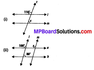 MP Board Class 7th Maths Solutions Chapter 5 Lines and Angles Ex 5.2 4