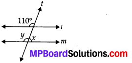 MP Board Class 7th Maths Solutions Chapter 5 Lines and Angles Ex 5.2 5