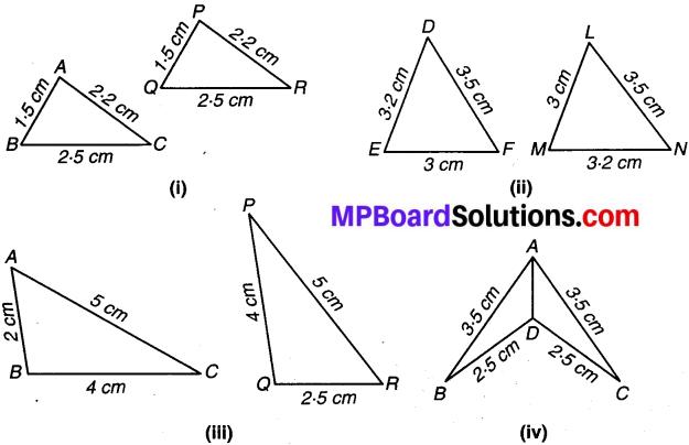 MP Board Class 7th Maths Solutions Chapter 7 त्रिभुजों की सर्वांगसमता Ex 7.1 image 1 b