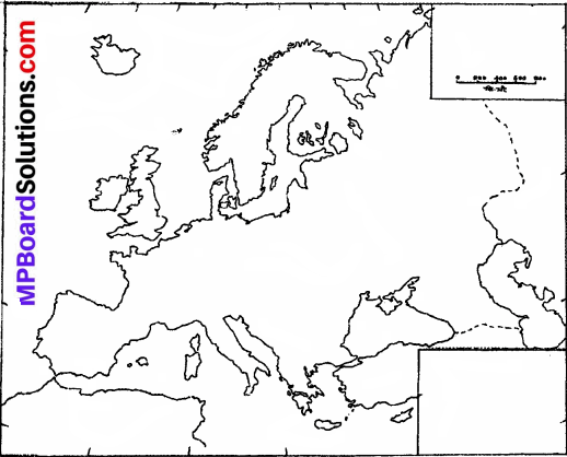 MP Board Class 7th Social Science Solutions Chapter 30 The Continent of Europe Physical Features