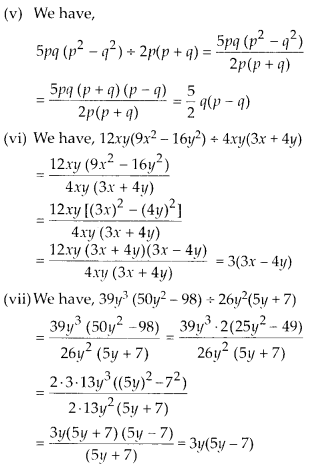 MP Board Class 8th Maths Solutions Chapter 14 Factorization Ex 14.3 7
