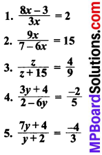 MP Board Class 8th Maths Solutions Chapter 2 एक चर वाले रैखिक समीकरण Ex 2.6 img-1