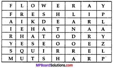 Mp Board Solution Class 7 English MP Board