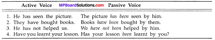 MP Board Class 8th Special English Grammar Active and Passive Voice 4