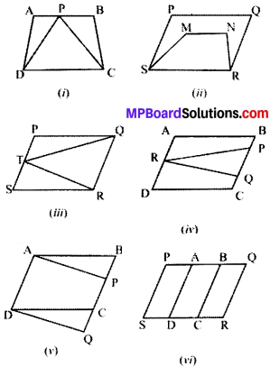 MP Board Class 9th Maths Solutions Chapter 9 Areas of Parallelograms and Triangles Ex 9.1 img-1