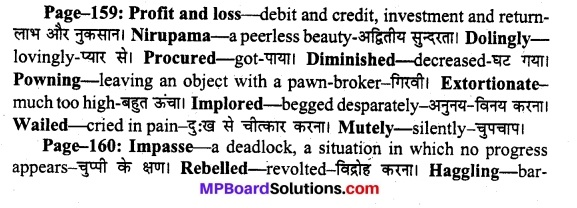 MP Board Class 11th English A Voyage Solutions Chapter 20 Profit and Loss 1