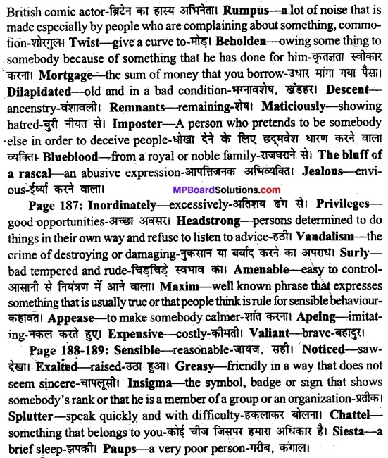 MP Board Class 11th English A Voyage Solutions Chapter 22 A Pair of Mustachios 2