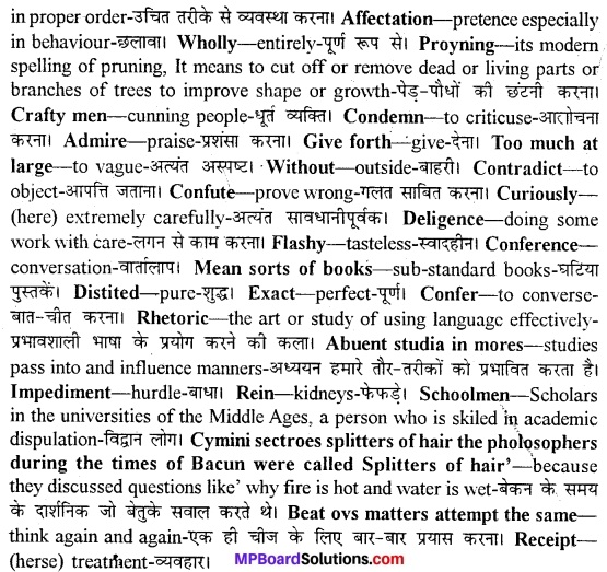 MP Board Class 11th English A Voyage Solutions Chapter 8 Of Studies 2