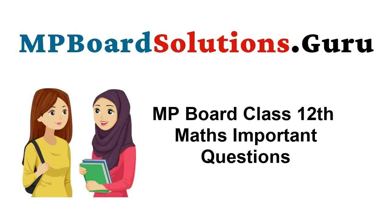 MP Board Class 12th Maths Important Questions with Answers
