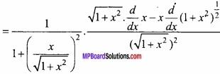 MP Board Class 12th Maths Important Questions Chapter 5B Differentiation