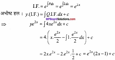 MP Board Class 12th Maths Important Questions Chapter 9 अवकल समीकरण