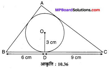 MP Board Class 10th Maths Solutions Chapter 10 वृत्त Additional Questions 21