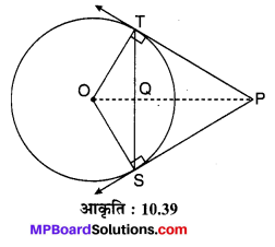 MP Board Class 10th Maths Solutions Chapter 10 वृत्त Additional Questions 24