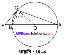 MP Board Class 10th Maths Solutions Chapter 10 वृत्त Additional Questions 31