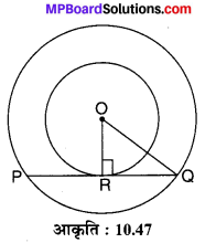 MP Board Class 10th Maths Solutions Chapter 10 वृत्त Additional Questions 32
