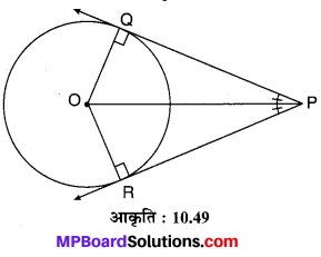 MP Board Class 10th Maths Solutions Chapter 10 वृत्त Additional Questions 34