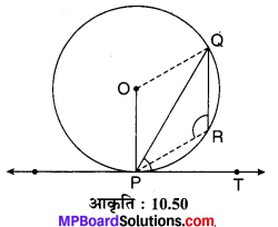MP Board Class 10th Maths Solutions Chapter 10 वृत्त Additional Questions 35