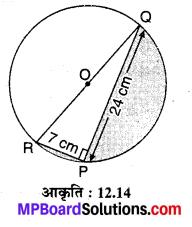 MP Board Class 10th Maths Solutions Chapter 12 वृतों से संबंधित क्षेत्रफल Ex 12.3 1