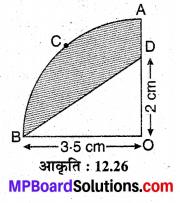 MP Board Class 10th Maths Solutions Chapter 12 वृतों से संबंधित क्षेत्रफल Ex 12.3 17