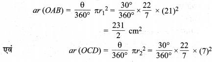 MP Board Class 10th Maths Solutions Chapter 12 वृतों से संबंधित क्षेत्रफल Ex 12.3 21