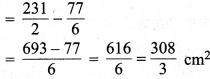 MP Board Class 10th Maths Solutions Chapter 12 वृतों से संबंधित क्षेत्रफल Ex 12.3 22