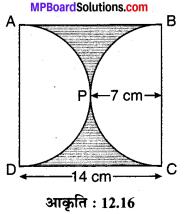 MP Board Class 10th Maths Solutions Chapter 12 वृतों से संबंधित क्षेत्रफल Ex 12.3 4