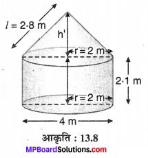 MP Board Class 10th Maths Solutions Chapter 13 पृष्ठीय क्षेत्रफल एवं आयतन Ex 13.1 10