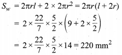MP Board Class 10th Maths Solutions Chapter 13 पृष्ठीय क्षेत्रफल एवं आयतन Ex 13.1 9