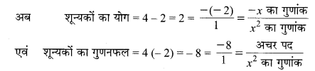 MP Board Class 10th Maths Solutions Chapter 2 बहुपद Ex 2.2 1