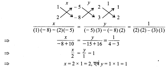 MP Board Class 10th Maths Solutions Chapter 3 दो चरों वाले रैखिक समीकरण युग्म Ex 3.5 3