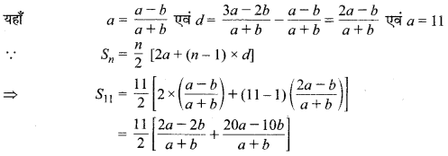 MP Board Class 10th Maths Solutions Chapter 5 समान्तर श्रेढ़ियाँ Additional Questions 13