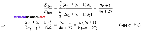 MP Board Class 10th Maths Solutions Chapter 5 समान्तर श्रेढ़ियाँ Additional Questions 3