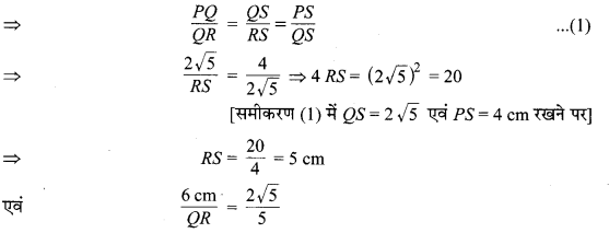 MP Board Class 10th Maths Solutions Chapter 6 त्रिभुज Additional Questions 12