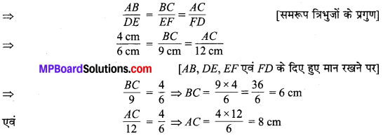 MP Board Class 10th Maths Solutions Chapter 6 त्रिभुज Additional Questions 28