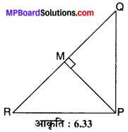 MP Board Class 10th Maths Solutions Chapter 6 त्रिभुज Ex 6.5 1