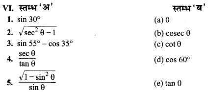 MP Board Class 10th Maths Solutions Chapter 8 त्रिकोणमिति का परिचय Additional Questions 26