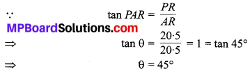 MP Board Class 10th Maths Solutions Chapter 9 त्रिकोणमिति के कुछ अनुप्रयोग Additional Questions 25