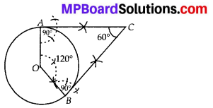 MP Board Class 10th Maths Solutions Chapter 11 Constructions Ex 11.2 5