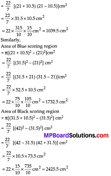 MP Board Class 10th Maths Solutions Chapter 12 Areas Related to Circles Ex 12.1 2