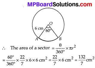 MP Board Class 10th Maths Solutions Chapter 12 Areas Related to Circles Ex 12.2 1