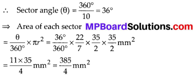 MP Board Class 10th Maths Solutions Chapter 12 Areas Related to Circles Ex 12.2 13