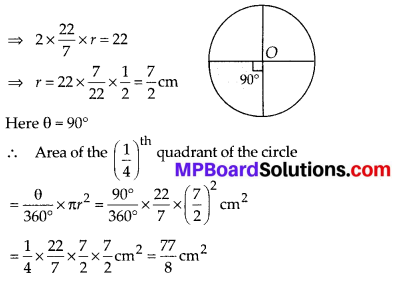 MP Board Class 10th Maths Solutions Chapter 12 Areas Related to Circles Ex 12.2 2