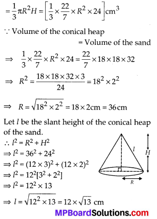 MP Board Class 10th Maths Solutions Chapter 13 Surface Areas and Volumes Ex 13.3 10