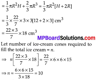 MP Board Class 10th Maths Solutions Chapter 13 Surface Areas and Volumes Ex 13.3 6