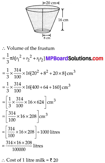 MP Board Class 10th Maths Solutions Chapter 13 Surface Areas and Volumes Ex 13.4 6